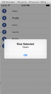 How to handle Row selection and delete a Row in UITableView using