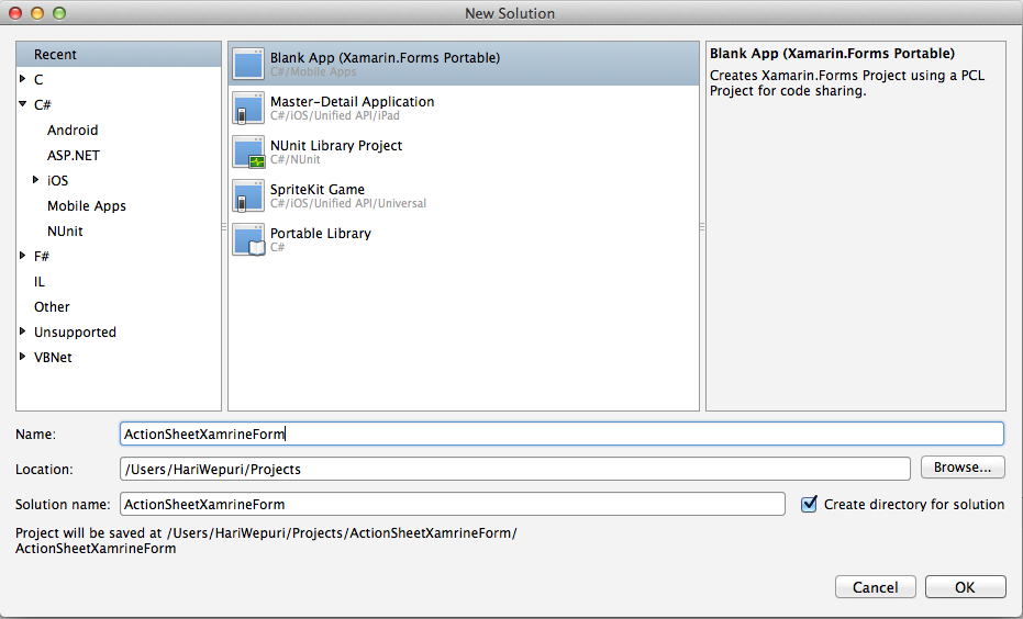 How to create Action sheets using Xamarin Forms | Mobilewits