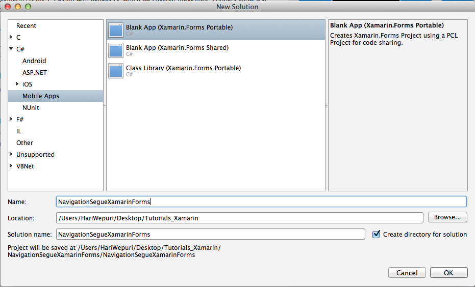 How to navigate from one ContentPage to another in Xamarin Forms